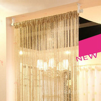 1M*2M Shiny Beautiful Screen Hangings Decoration Adornment Line Curtain Home Bedroom, Living Room Door Curtain Dividers