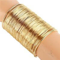 """3.50"""" wire tiered wide bracelet bangle cuff basketball wives"""