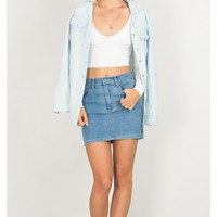 Day And Night skirt in med wash denim