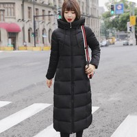 JACKET Women's Winter Coat Hooded Cotton Padded Winter Long Parka Warm Thick