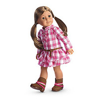 American Girl® Clothing: Western Plaid Outfit for Dolls + Charm