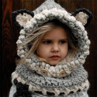 Children Scarf Winter Handcrafts Hats [110447591449]