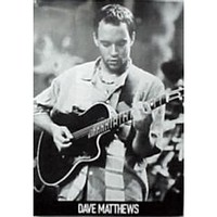 Dave Matthews - Black and White Guitar 24x36 Standard Wall Art Poster