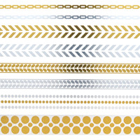 Flash Metallic Tattoo 2 | Gold and Silver Tattoos