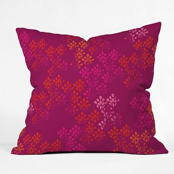 Camilla Foss Bright Happiness I Outdoor Throw Pillow