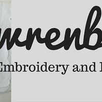 Modern & Whimsical Embroidered Hankies & PDF Patterns by wrenbirdarts