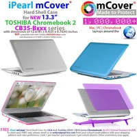 iPearl mCover Hard Shell Case for 13.3-inch Toshiba ChromeBook 2 CB30 / CB35-Bxxxx (2014) and CB30 / CB35-Cxxxx (2015) series Laptop (NOT compatible with OLDER Toshiba CB30 / CB35-Axxxx (2013) series 13.3-inch Chromebook) (Black)