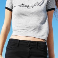 NADINE STAY GOLD EMBROIDERY TOP