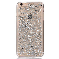 Silver Glitter Flakes Phone Case For iPhone 6 6s, 6s Plus