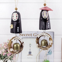 2X Spirited away Wind chimes No Face Men Figure Creative Gift Home Decor Bedroom Display