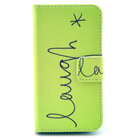 Leather Flip Case Stand Cover For iphone 5c With Card Holder