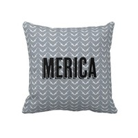 Merica gun chevron pattern throw pillow from Zazzle.com