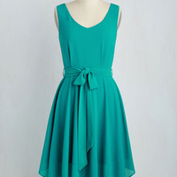 The Dancer to Your Questions Dress in Jade | Mod Retro Vintage Dresses | ModCloth.com
