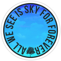 'All We See Is Sky For Forever | Dear Evan Hansen' Sticker by aimee-draws