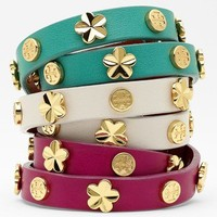 Tory Burch Stud Leather Wrap Bracelet | Nordstrom