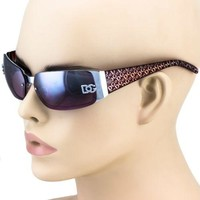DG Womens Fashion Designer Sunglasses Rectangular Wrap Around Shades