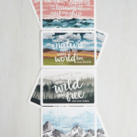 Rustic We Can Work it Outdoors Notecard Set by ModCloth