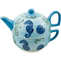 Seahorse Cup and Teapot Set - On Sale