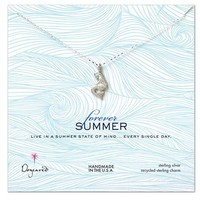 Dogeared Forever Summer Pretty Mermaid Necklace Sterling Silver - 18 Inch