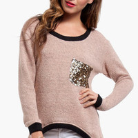 Pocketful of Glitz Sweater $40