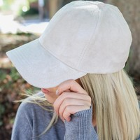 So Sweet Suede Cap - Cream