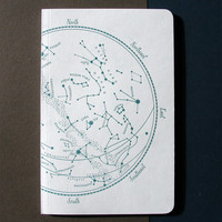 Letterpress Notebook Constellations