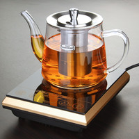 Special Tea Pot Boil Dedicated Cooker Glass Stainless Steel Liner Kettle