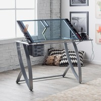 Studio Designs Futura Advanced Drafting Table with Side Shelf | www.hayneedle.com