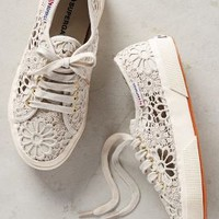 Superga Lace Sneakers in Beige Size: