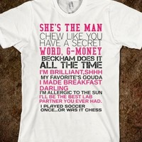Supermarket: She's The Man Movie Quotes T-Shirt from Glamfoxx Shirts