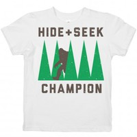 Hide and seek champ-Unisex White Youth T-Shirt