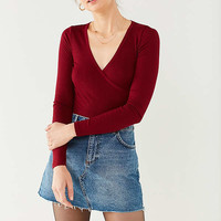 Project Social T Surplice Wrap Top | Urban Outfitters