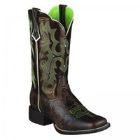 Ariat Ladies Brown Tombstone Western Boots - COWGIRL BOOTS - LADIES