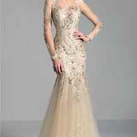 New Arrival Special Occasion Long Sleeve Evening Dresses Elegant Long Lace Mermaid Formal Party Prom Gowns Robe de Soiree