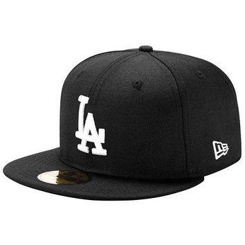 """Dodgers """"Classic Black"""" Fitted Hat"""