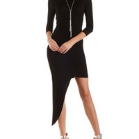 Asymmetrical Cut-Out Back Dress by Charlotte Russe