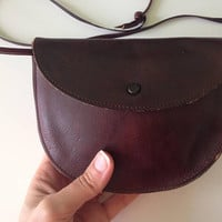 Leather Festival Bag, Leather Boho Clutch, Bohemian Clutch Bag, Brown Leather Pouch, Small Womens Wallet, Real Leather Shoulder Bag Women
