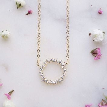 Eternity Wreath Necklace