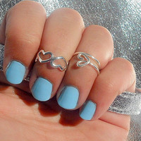 Kuckle Rings- Open Heart's Above Knuckle Ring's -  Above Knuckle Open Heart's Ring's - Set of 2 by Tiny Box