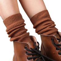women long socks for winter Vintage Thick Knitting Socks chaussettes femme calcetines mujer largos free shipping