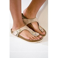 Gizeh BS Birkenstocks | Washed Metallic Rose Gold| Best Seller