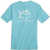 Weathered Skipjack Tee Shirt in Turquoise by Southern Tide
