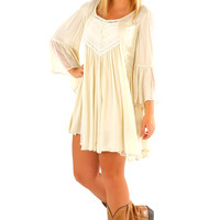 Ark & Co: How Did I Get You Dress: Cream