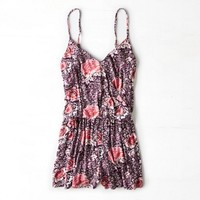 AEO PATTERNED WRAP FRONT ROMPER