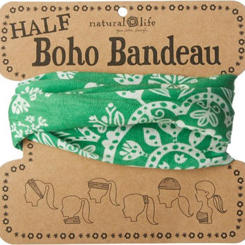 Half Boho Bandeau in Green by Natural Life