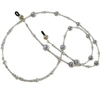 Fancy White Beaded Eyeglasses Chain