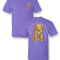 """Sassy Frass Tee """"Paw Prints"""" on Comfort Colors"""