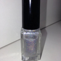 """Nail Polish - """"Out of Space"""" - Silver spectraflair holographic glitter nail polish 12ml"""