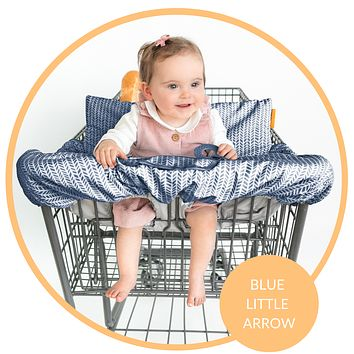 Baby Shopping Cart Cover - Blue Little Arrow
