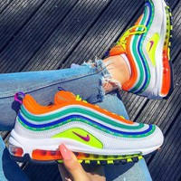 Nike Air Max 97 Hot Sale Woman Men Casual Air Cushion Rainbow Sport Running Sneakers Shoes